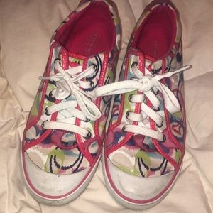 Coach Colorful Sneakers — Size 8.5